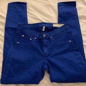 ♦️3/27♦️ Rag and bone jean cobalt Capri